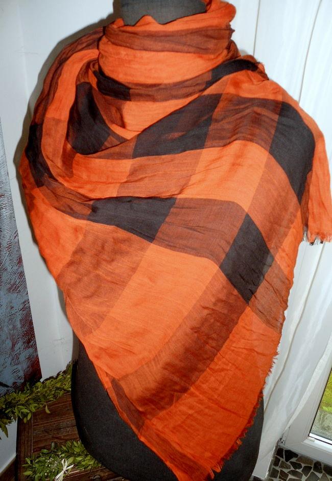 burberry schal tuch burnt orange neu ebay. Black Bedroom Furniture Sets. Home Design Ideas
