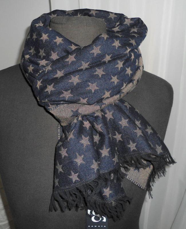 Samaya sterne wende schal scarf woven neu ebay - Ebay sterne ...