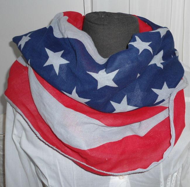 SCHAL/TUCH VINTAGE USA AMERKIA FLAGGE STERNE STARS STRIPES